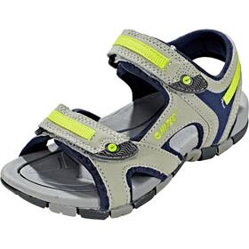 Hi-Tec GT Strap Chaussures Enfant, cool grey/majolica blue/limonclimoncello